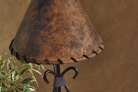 Traditional Leather Lamp Shade