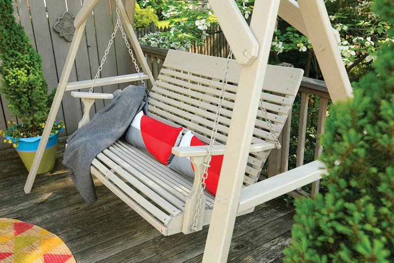 swings outdoor for porch info swing cypress wooden pertaining wood sale to lowes attractive best
